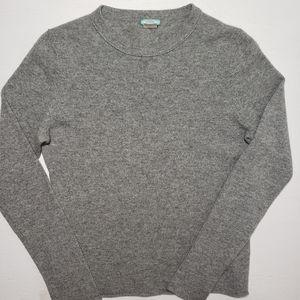 J Crew Cashmere Sweater Gray Medium